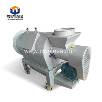 Air flow screen centrifugal screen for starch