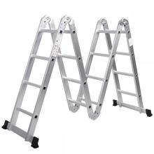 factory low price Used for Multipurpose Ladder With Hinges 4X5 Steps aluminum multipurpose ladder supply to Czech Republic Factories