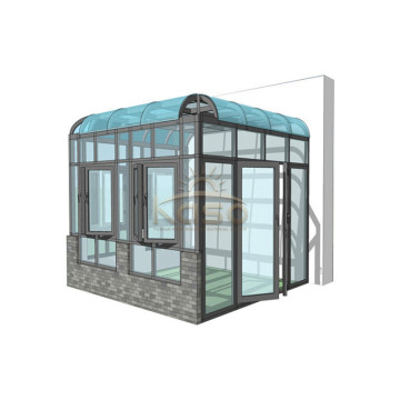 Aluminum Glass Sunroom Curved Restaurant Patio Cover