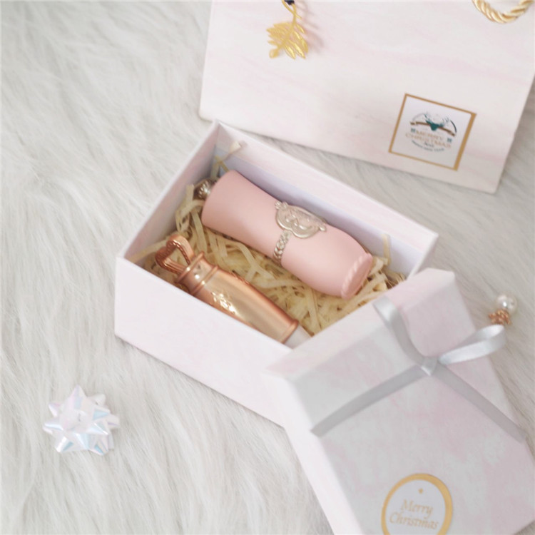 Pink marble pattern elegant empty jewelry box