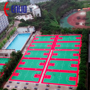 Portable Modular Interlock PP Outdoor sports court Tile