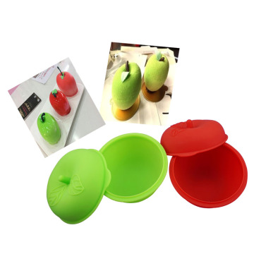 silicone bowl for kid with lid apple mold