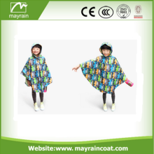 New Design Spring Children Girls Whaterproof Poncho