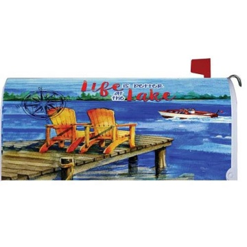 Custom Outdoor Magnet LAKE WELCOME Mailbox Cover