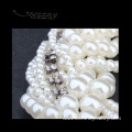 Handmade Weave Beads Pearl Twisted Statement Collar Necklace