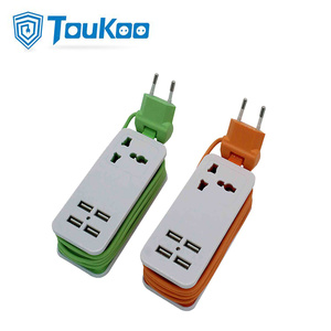 Professional Design for Portable Rechargeable Extension Socket Universal travel power strip with 4 USB ports export to France Factories