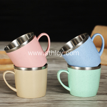 304 Stainless Steel Wheat Straw Creative Mug