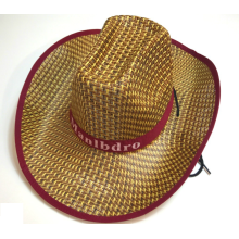 Factory making for Paper Straw Hat Stakerope Fashion Men Cowboy Straw Hat export to Jamaica Manufacturer