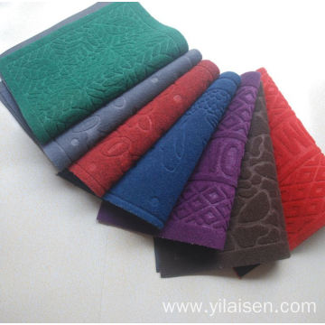 Velour commercial logo polyester outdoor custom mat