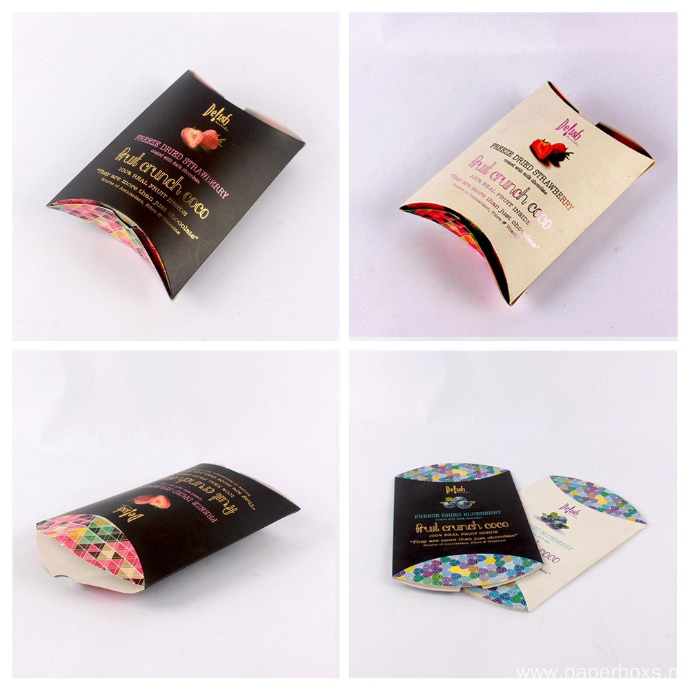 Customized Pillow Shaped Food Paper Packaging Box