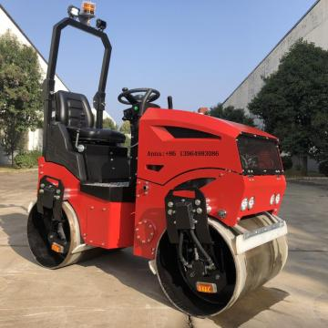 Hand operated diesel engine starting road roller 1200KG