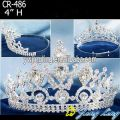 4 Inch Silver Tiara Pageant Crown For Girl