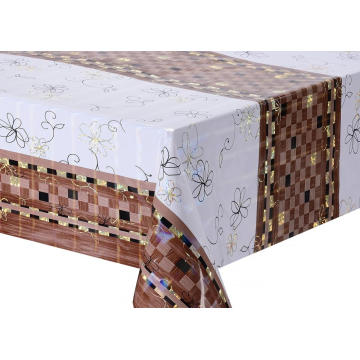 Transfer Printing Tablecloth with Silver/Gold  sequin