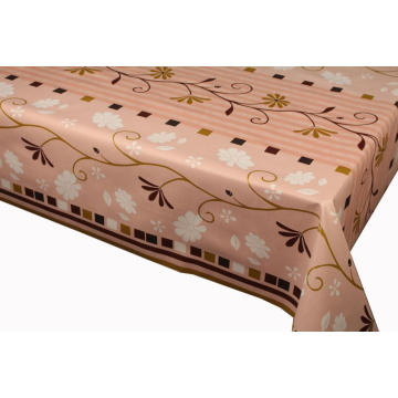 Pvc Printed fitted table covers No Batting