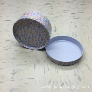 Metal round tins with lids
