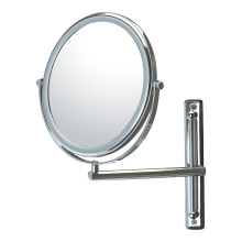 Adjustable single arm double vanity mirror