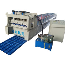 Glazed Bamboo Shape Roof Tile Roll Forming Machine