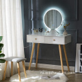 Artist portable makeup vanity table with LED