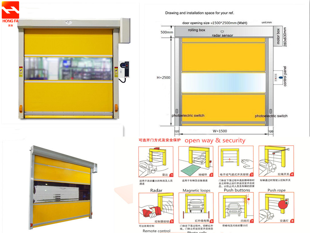 Pvc Curtain Fast Shutter Door China Manufacturer