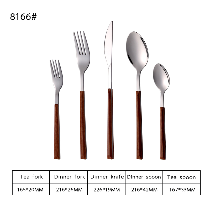 18-8 Plastic Handle Stainless Steel Tableware