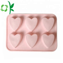 Silicone Baking Tools Heart 6Cavity Shape Chocolate Molds