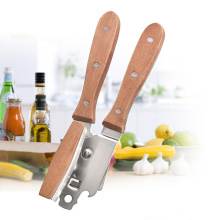 Stainless Steel Can Opener with Wood Handle