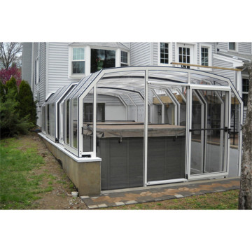 Modern Design Glass Sunroom For Swimming Pool Roof