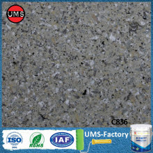 Faux granite grey wall texture paint effect
