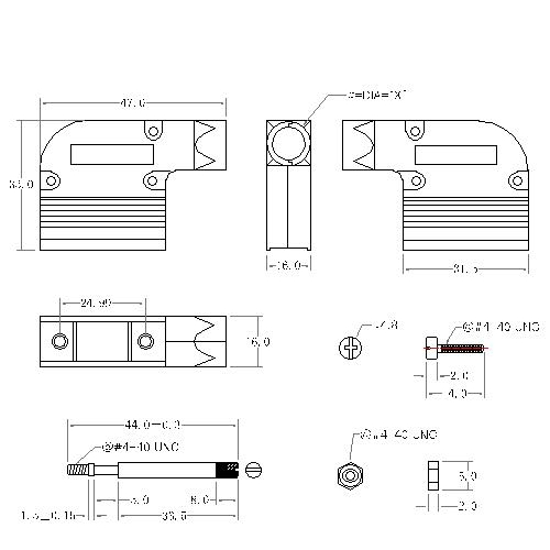 DBZAR-09XX2 1 D-SUB METAL HOODS,09P,RIGHT ANGLE, LONG SCREW