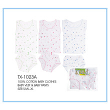 100% cotton infant apparel/baby clothes