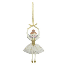 China for Glass Christmas Ornaments Christmas ornament with dancing girl pattern export to United States Manufacturers