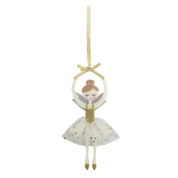 High definition Cheap Price for Glass Christmas Ornaments Christmas ornament with dancing girl pattern supply to United States Manufacturers