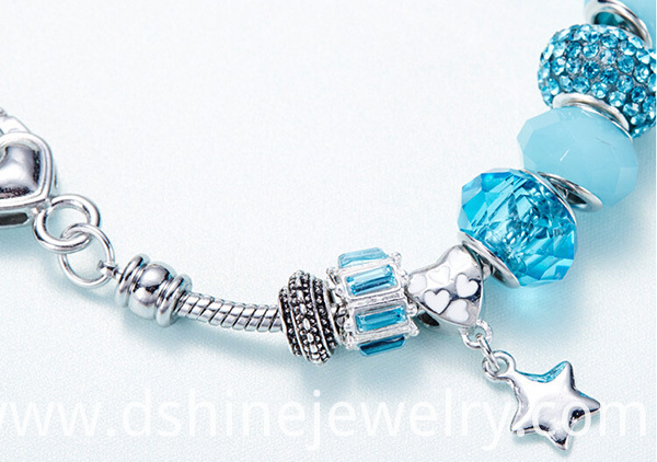 DIY Charm Key Crystal Bracelet