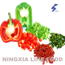 Air dried red bell pepper