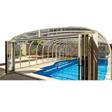 Cover Slant Retractable Swimming Pool Enclosure Diy
