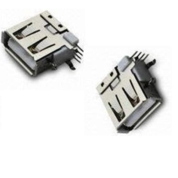 USB-A Type Receptacle Angle Upright DIP Short Body