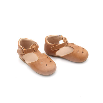 Leather Baptism Kids Girl Flat Mary Jane shoes