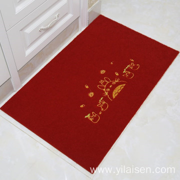 Commercial logo floor door mat colorful carpet