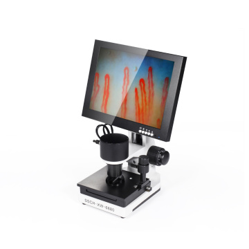 Noninvasive blood capillary microcirculation microscope