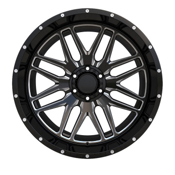 Alloy 20X10 Offroad Rim Black Milled