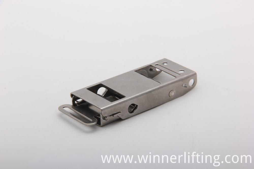 stainless steel over center buckle