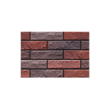 Antique face thin brick veneer exterior