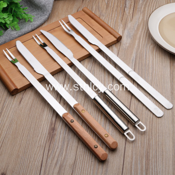 Stainless Steel Barbecue Knife and Fork Set