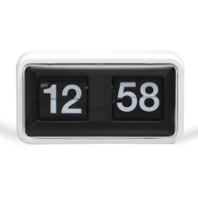 Black Plastic Box Flip Clock