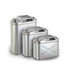 China New Product for Stainless Steel Square Fuel Tank Stainless steel jerry fuel/petrol cans/oil drum container export to Sweden Factory