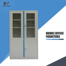 China Cheap price for Office Steel Cupboard Steel school lab storage 2 glass door cabinet supply to Pakistan Wholesale