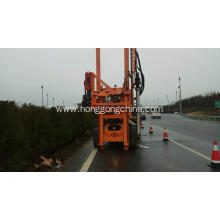Pile Driver with Hydraulic Hammer