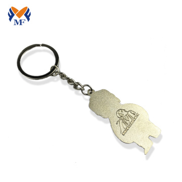 Zinc alloy custom human shape keychain picture