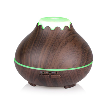 Wood Grain Mini Portable Ultrasonic Essential Oil Diffuser