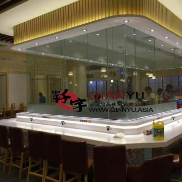 Buffet Restaurant  LED Light Type Sushi Belt